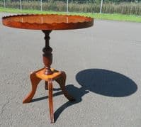 SOLD - Yew Oval Top Pedestal Wine Table